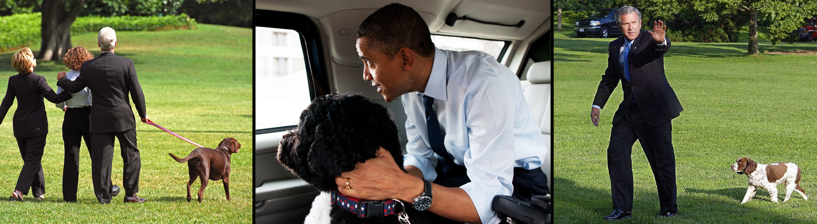 US-Präsidenten mit ihren First Dogs