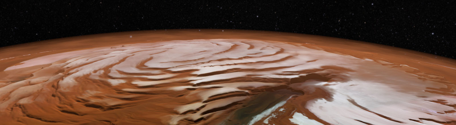 Eis auf dem Mars