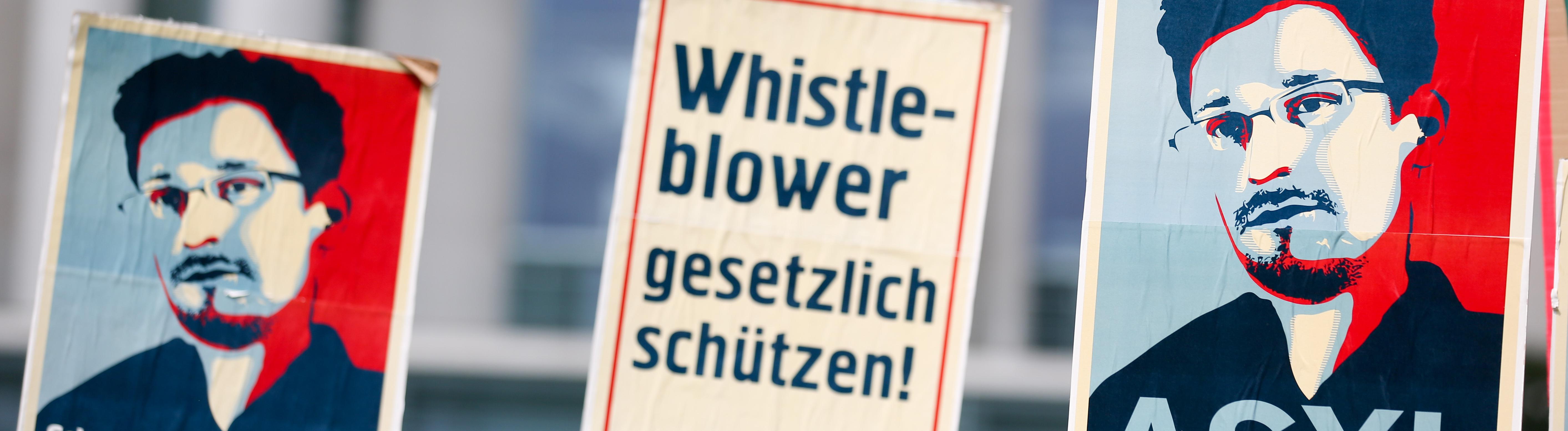 Demonstration für mehr Schutz für Whistleblower