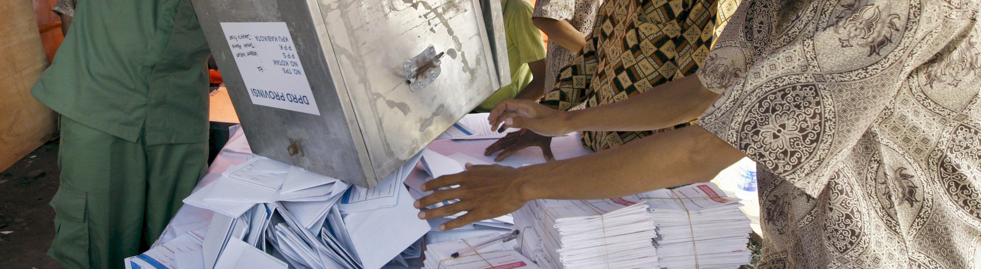 Wahlzettel in Indonesien