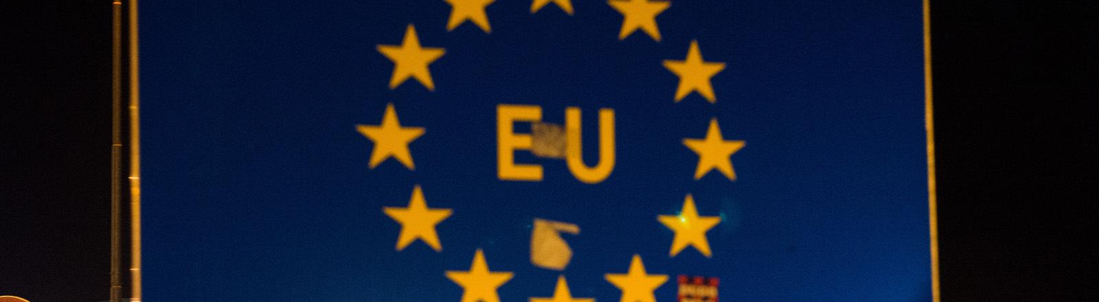 Grenzschild der EU