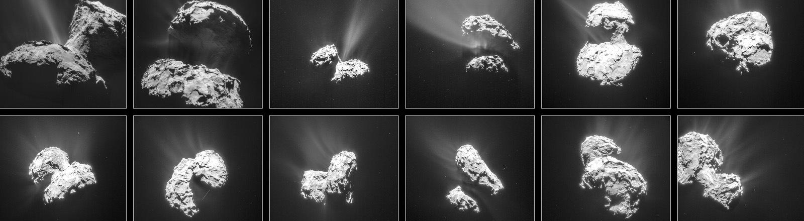"""Komet """"Tschuri"""" in verschiedenen Perspektiven"""