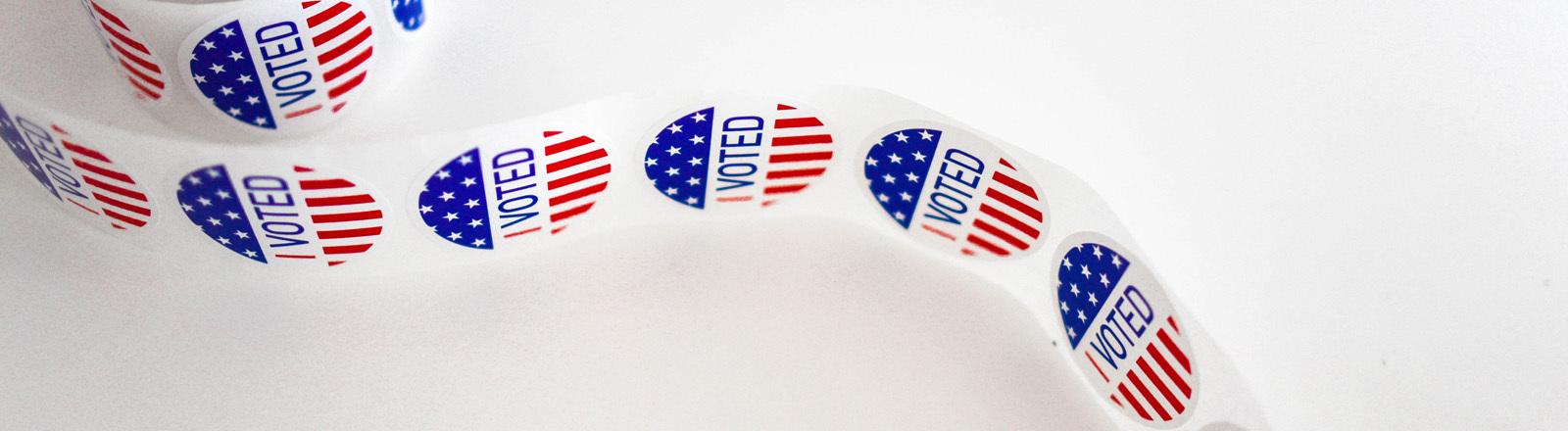 Sticker zur US-Wahl