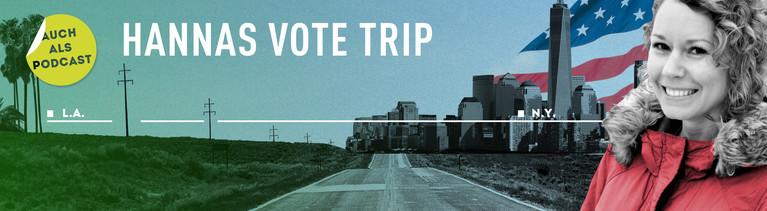 Hannas Vote Trip Banner Schrift