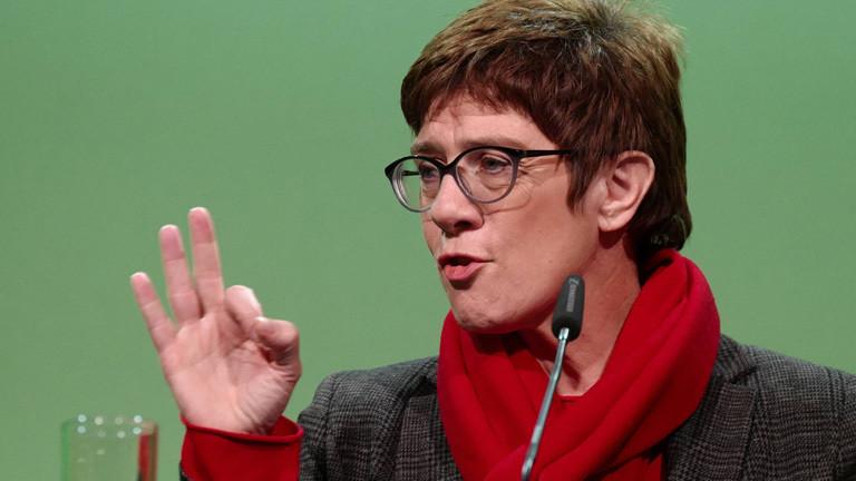 Annegret Kramp-Karrenbauer bei einer Veranstaltung der Sachsen-CDU