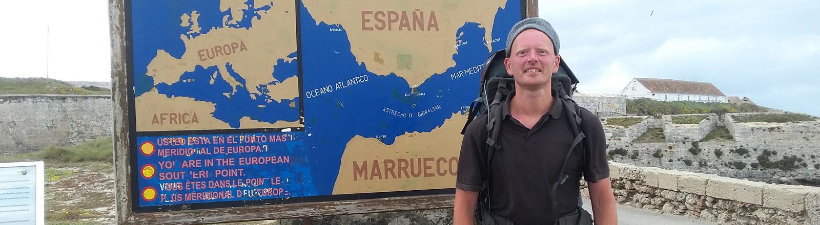 Kai Uwe Dobrzewski wandert zu Fuß durch Europa.