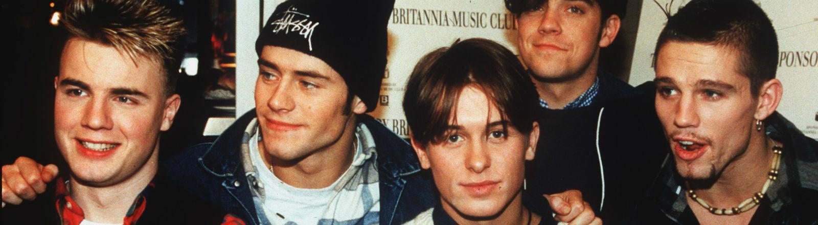 Fünf junge Männer - die Boyband Take That, Bild: dpa