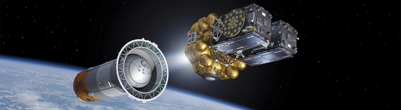 Satelliten 5 und 6 für EU-Navigationssystem Galileo.