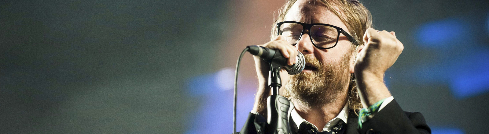 att Berninger, singer of US alternative rock band The National, performs during a concert at the SOS 4.8 Festival in Murcia, southeastern Spain, late 02 May 2015.