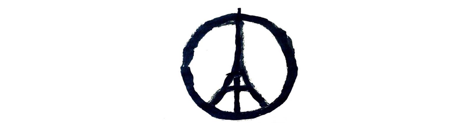 Peacesymbol mit Eiffelturm
