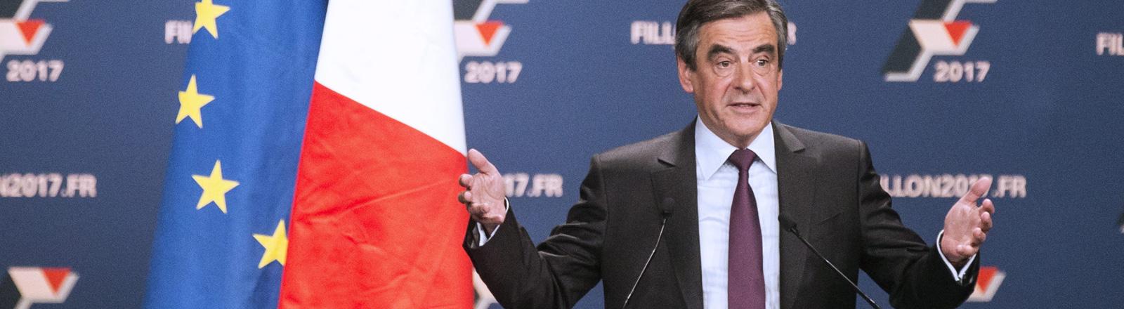 François Fillon  französischer Präsidentschaftskandidat der Republikaner