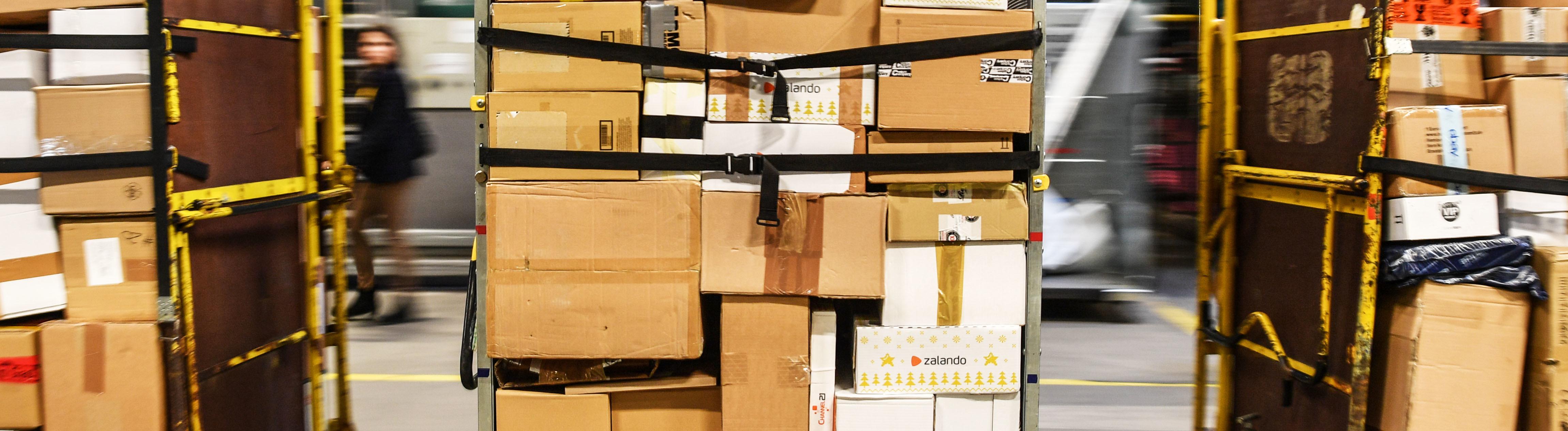 gestapelte Pakete
