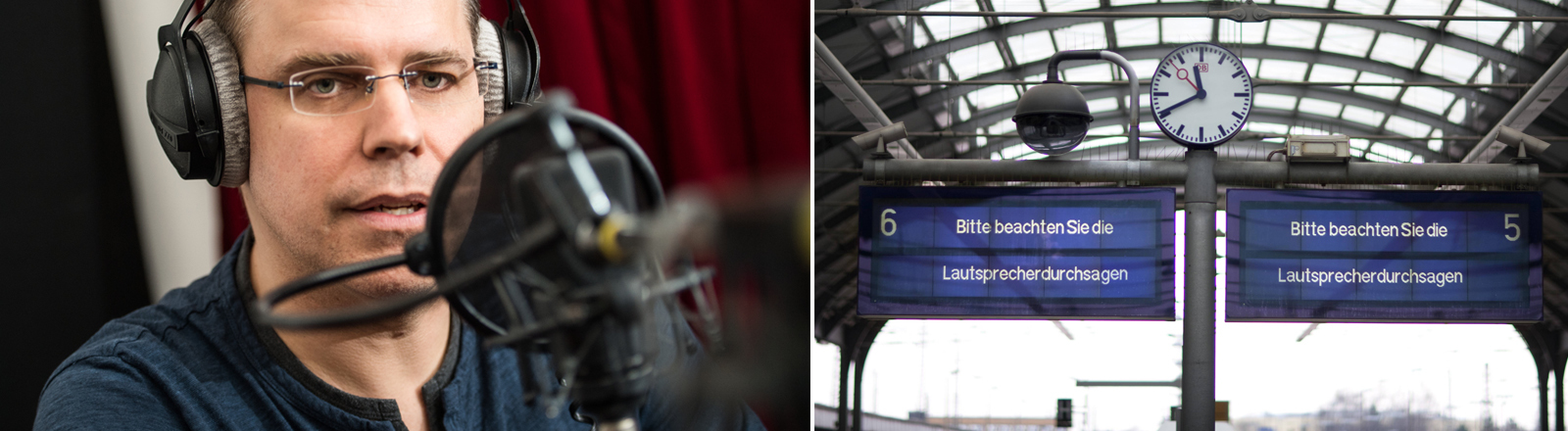Heiko Grauel, Sprecher Deutsche Bahn, Bahnhof Halle