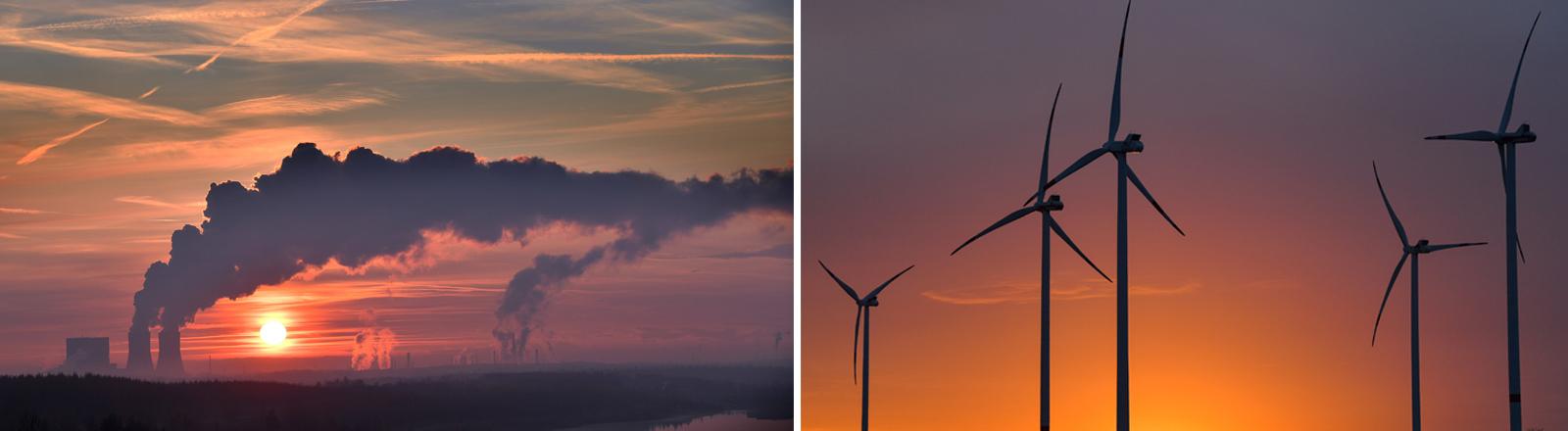 Kohlekraftwerk Windenergie