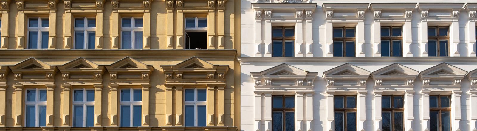 Fassade von Altbauwohnungen.