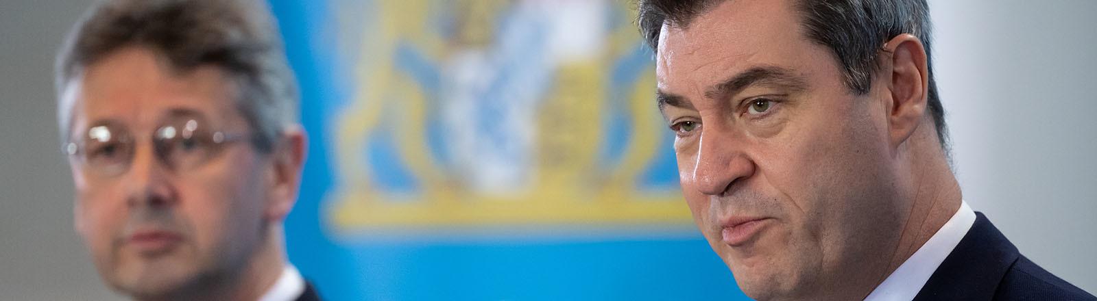 Markus Söder, CSU, Ministerpräsident Bayern, in der bayerischen Staatskanzlei am 13.03.2020
