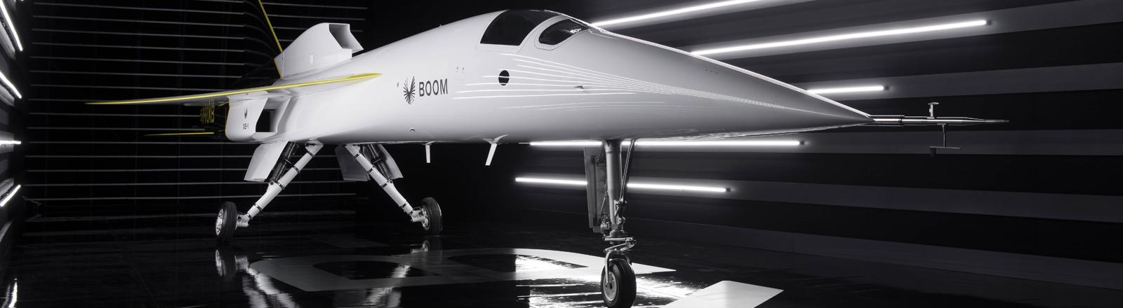 Der Prototyp des Überschalljets XB-1 von Boom Supersonoc.