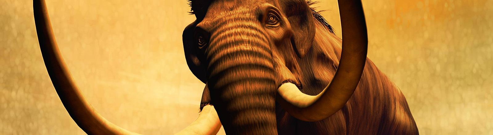 Illustration eines Mammuts