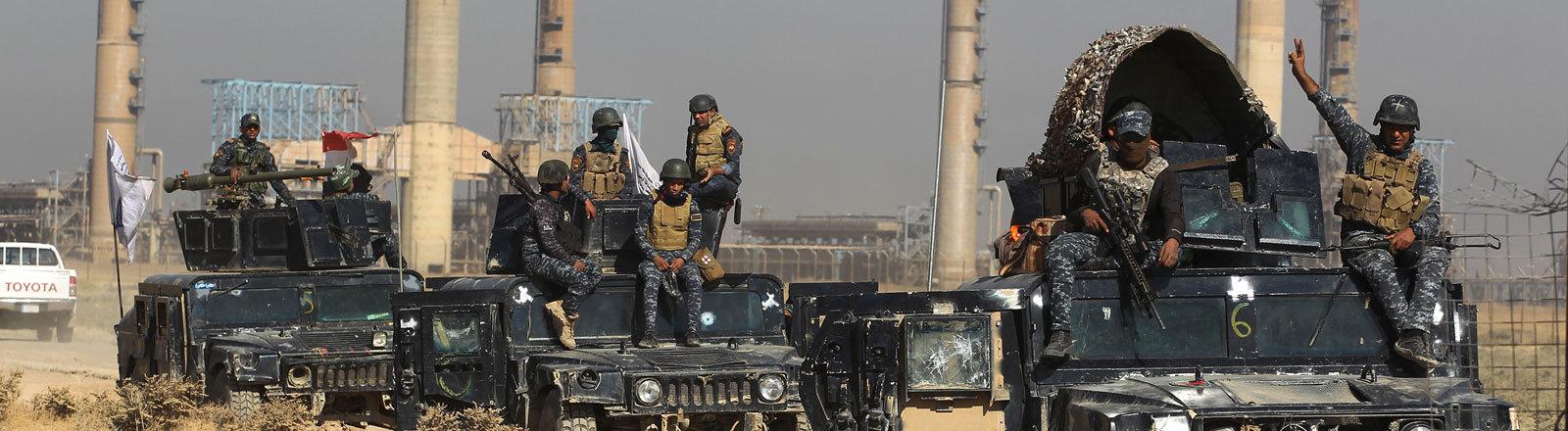 Irakische Truppen bei Kirkuk