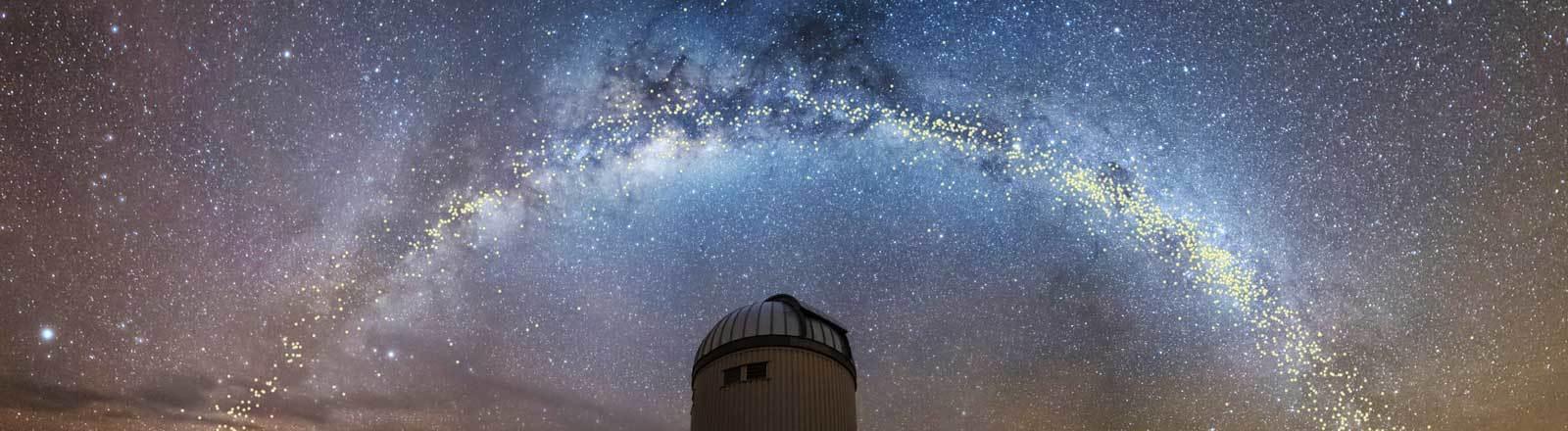 Die Milchstraße über dem Warschauer Teleskop