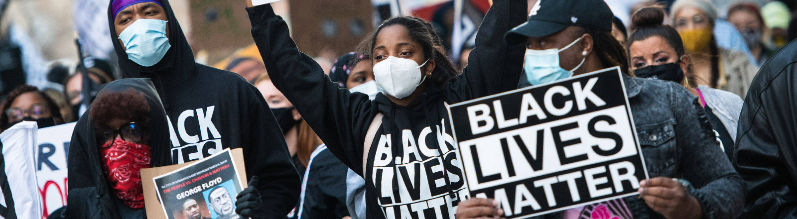 "Demonstrierende der ""Black Lives Matter""-Bewegung in den USA."