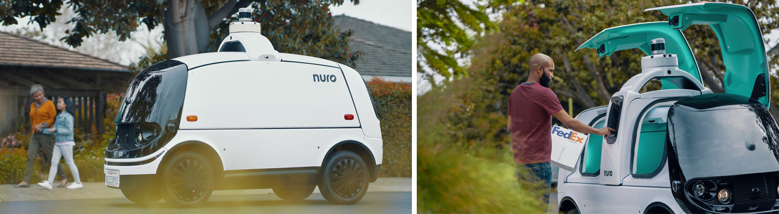 Nuro R2 ist ein autonomes Zustellfahrzeug.