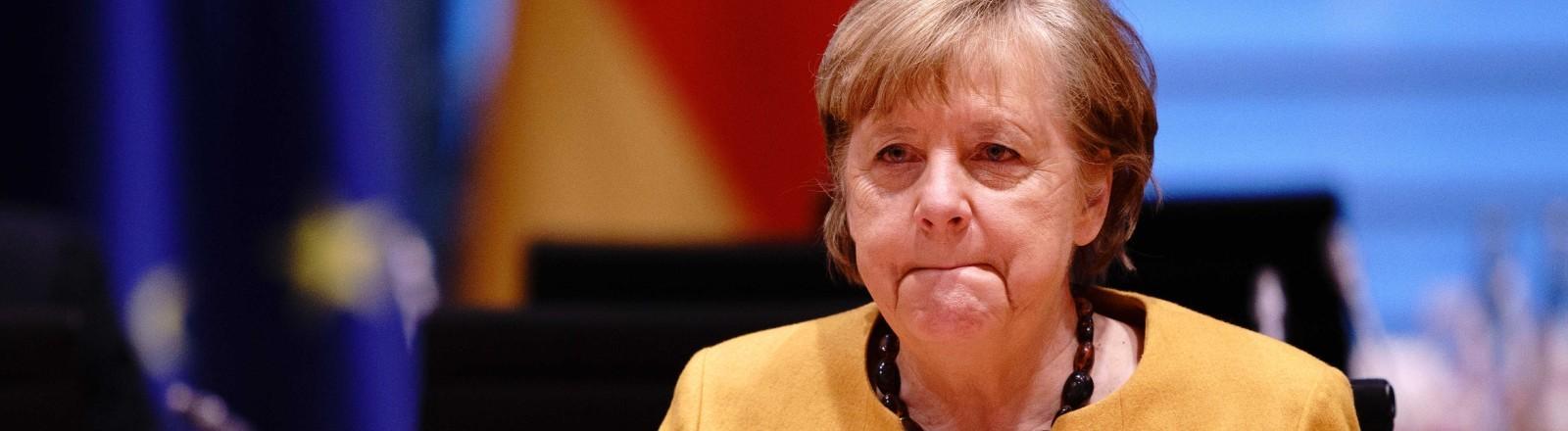 Angela Merkel bei der Ministerpräsidentenkonferenz