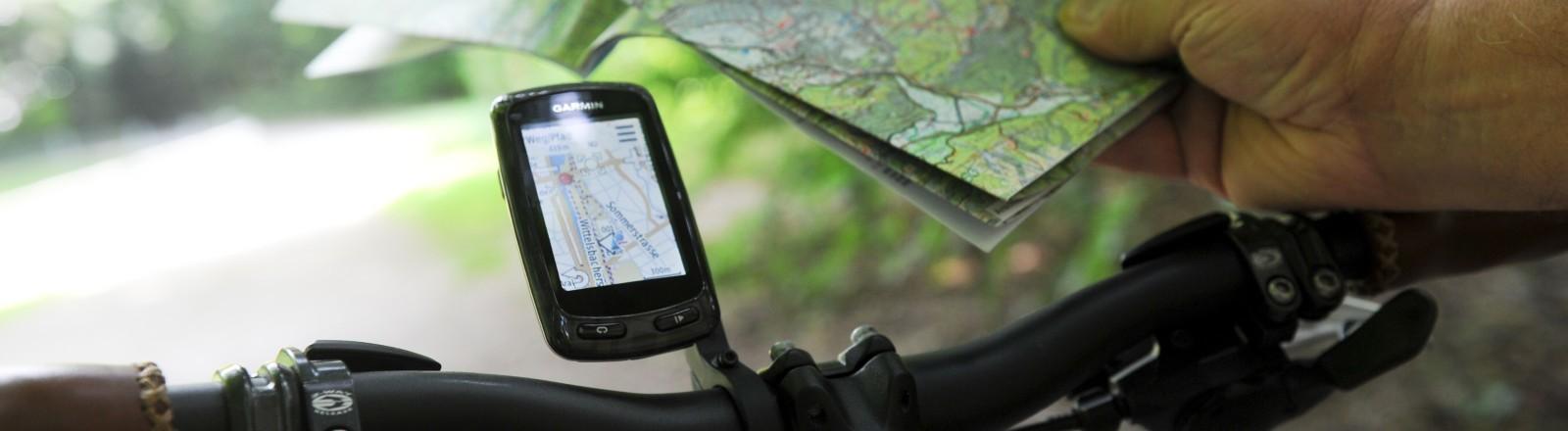 Fahrrad-Navigation und Fahrradkarte