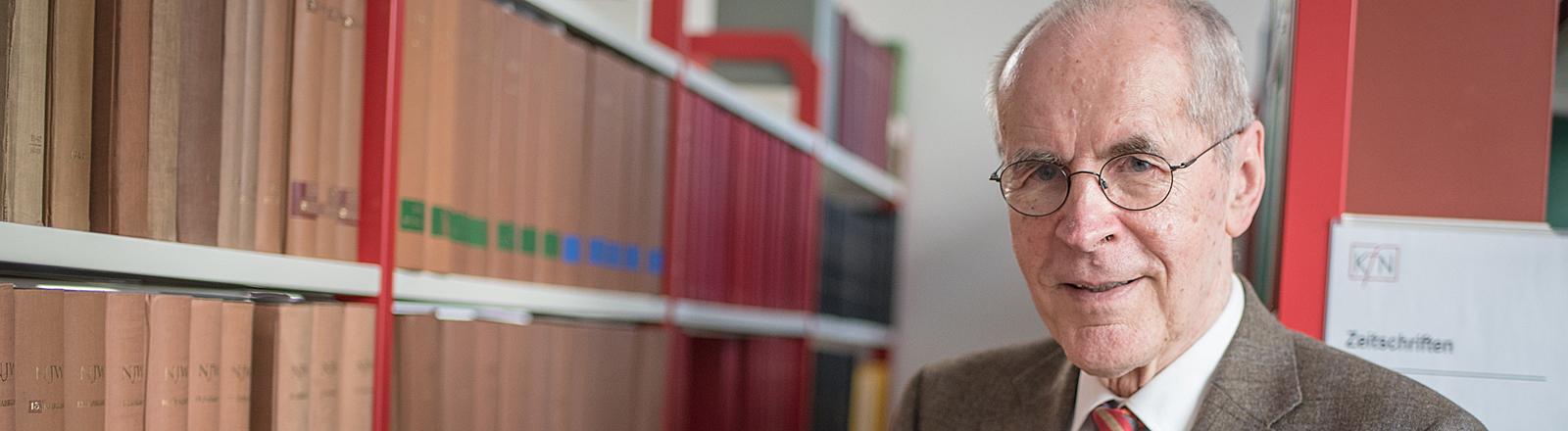 Der Kriminologe Christian Pfeiffer 2015 in Hannover (Niedersachsen).