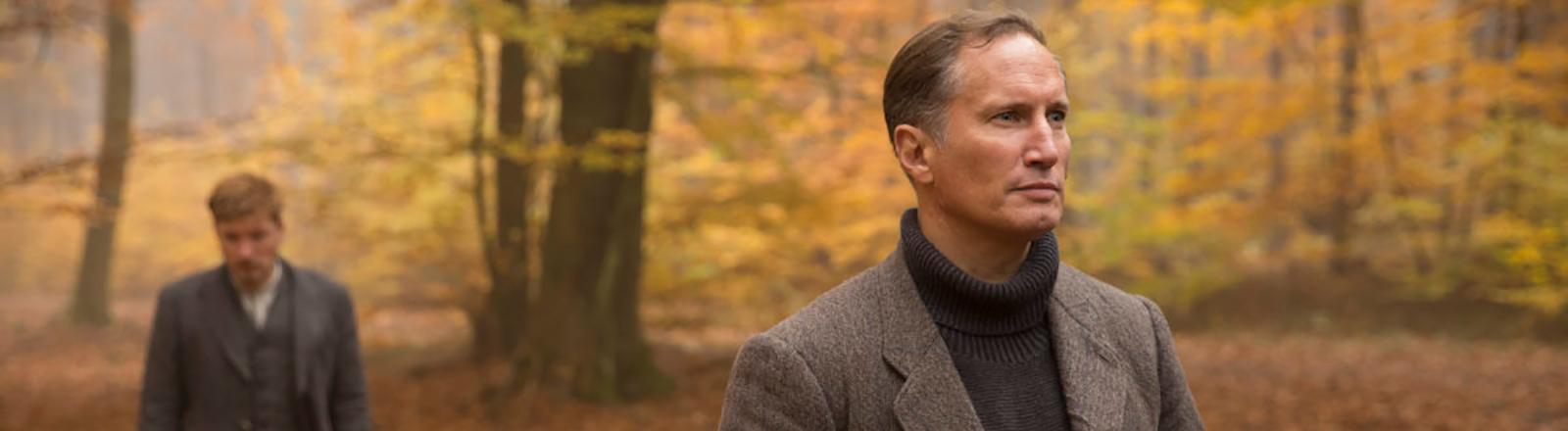 """Benno Fürmann aka Regierungsrat Günter Wendt, Dreharbeiten, Filmausschnitt ARD-Serie """"Babylon Berlin"""" 3. Staffel"""