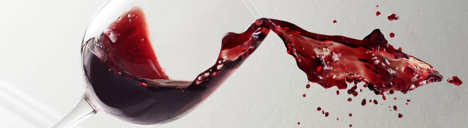 Wein im Glas.