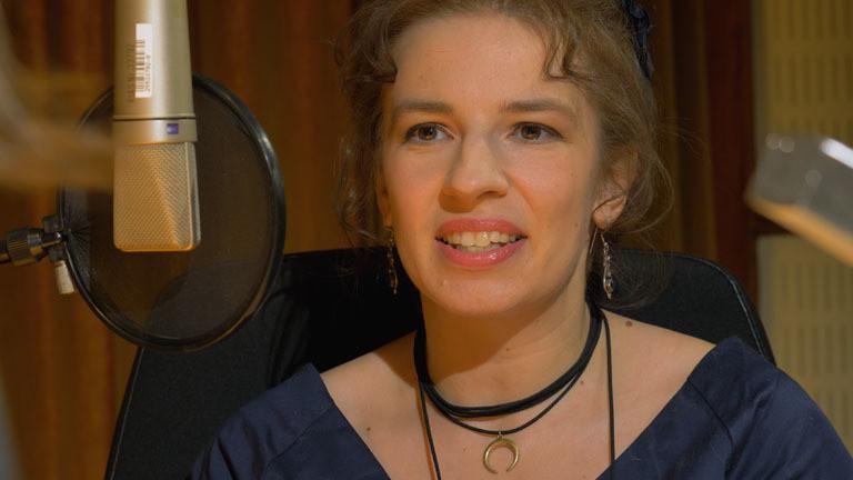 Marina Weisband im Deutschlandfunk Nova Studio in Berlin