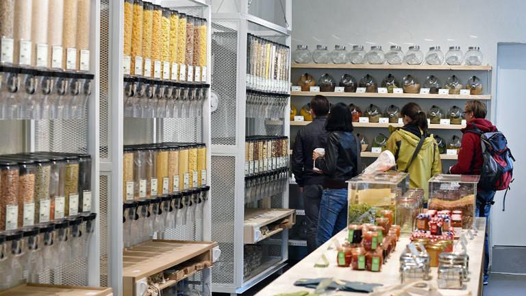 Supermarkt ohne Verpackungsmüll