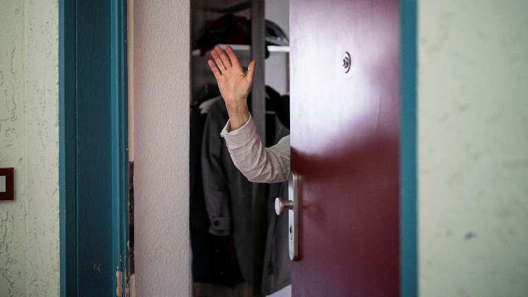 Geöffnete Tür