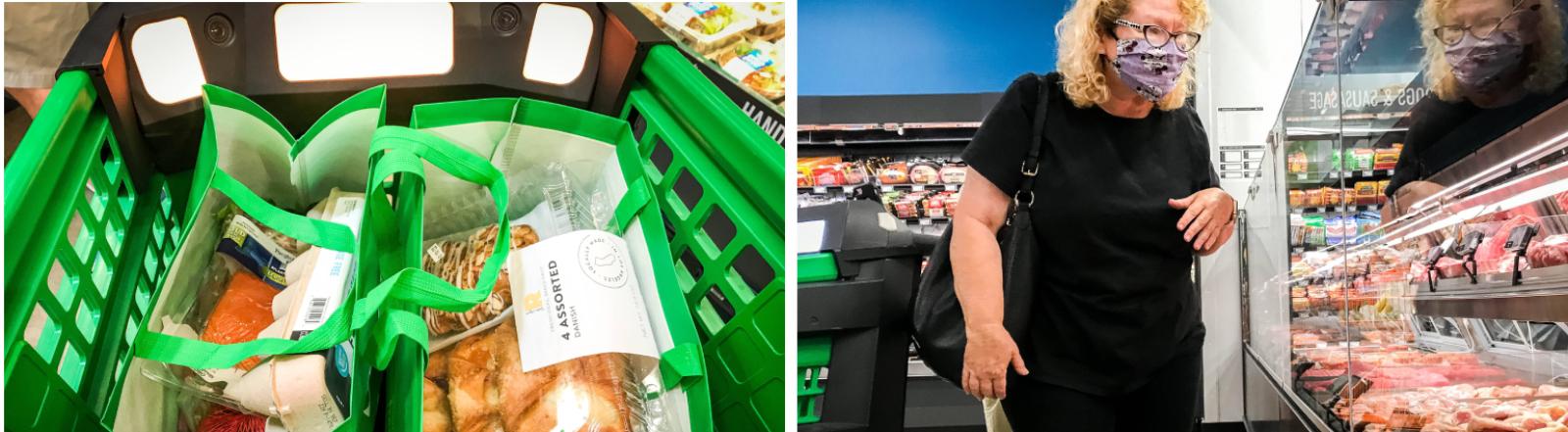 Einkaufen in Kalifornien: Szenen aus dem Amazon-Supermarkt in Woodland Hills