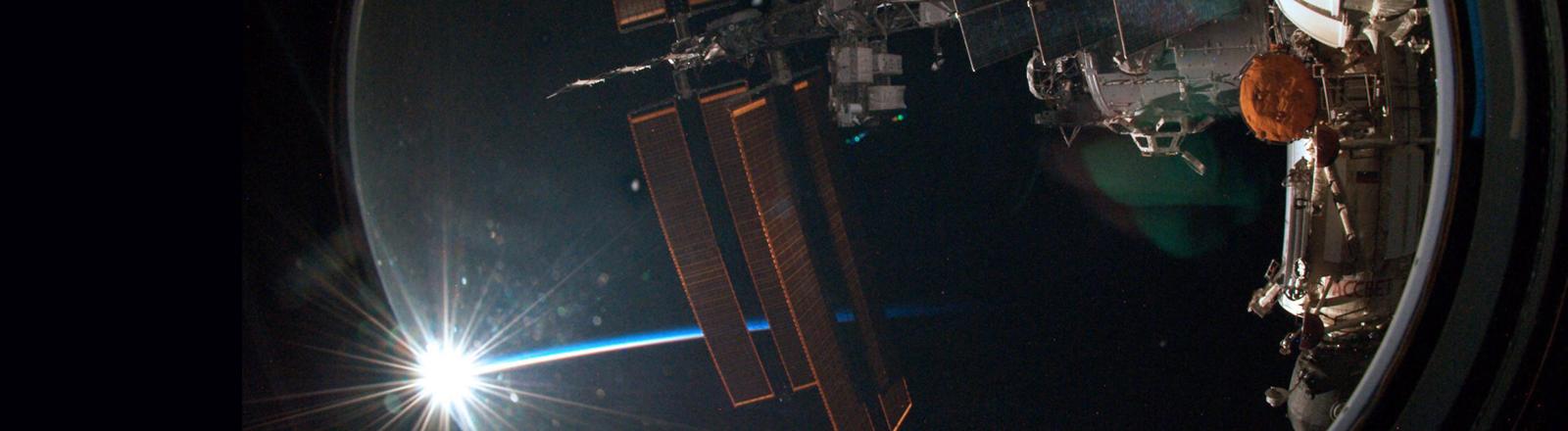 Astronaut Alexander Gerst schoss dieses Bild von der ISS aus und twitterte es.