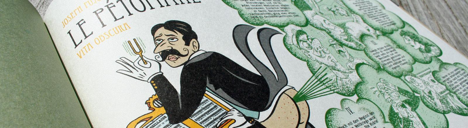 """Ein Ausschnitt aus dem Comicband """"Vita Obscura"""" von Simon Schwartz"""