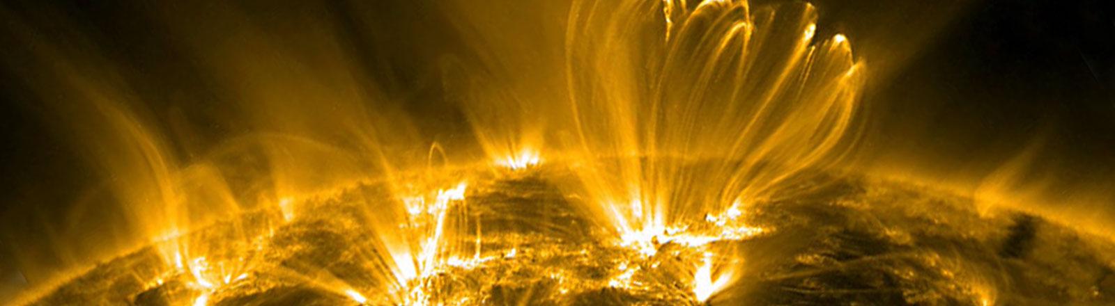 Im Januar und Juli 2012 jagten die stärksten Sonnenstürme seit 2005 auf die Erde zu.