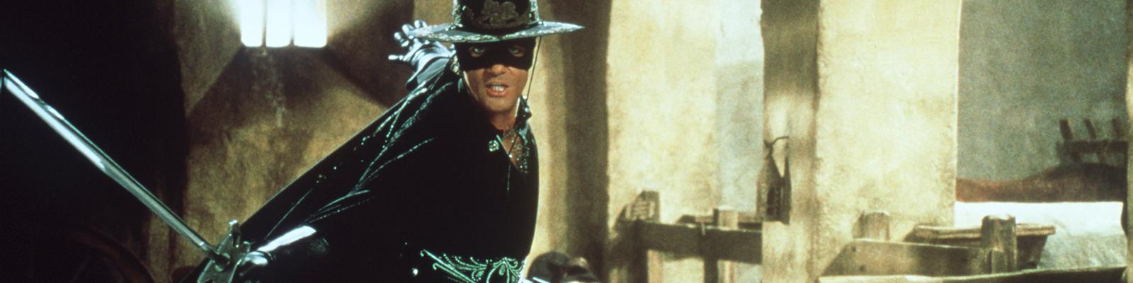 """""""Die Maske des Zorro"""" - Antonio Banderas spielt Zorro - der Rächer der Armen."""