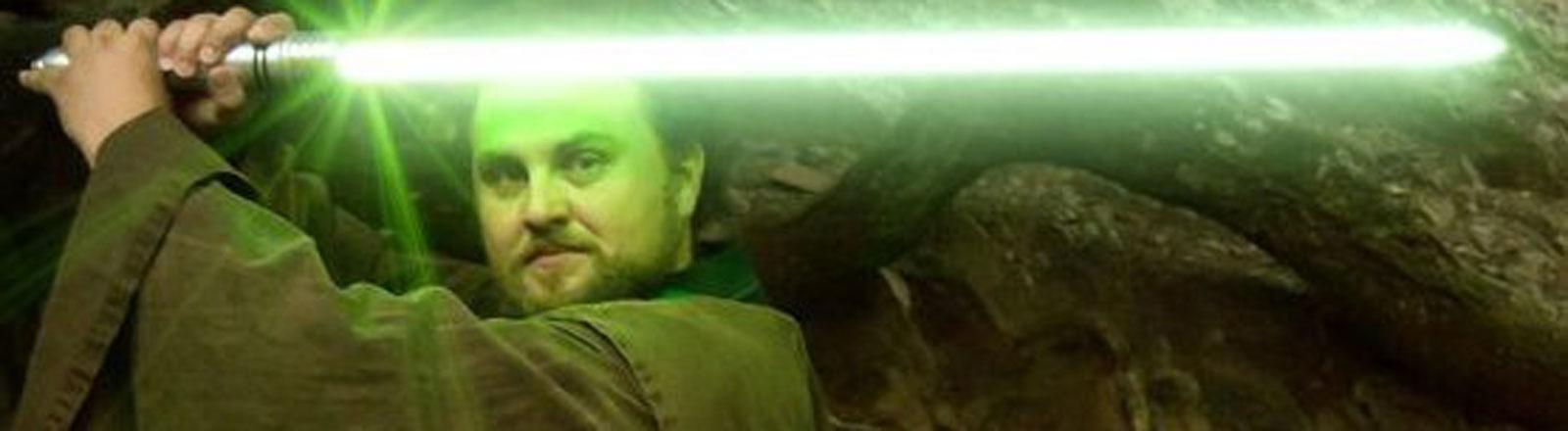 Jedi-Ritter Qui-Ran Demera, bürgerlich Max Lütgendorff, der Gründer des Jedi-Ritter-Ordens Order of Hope.