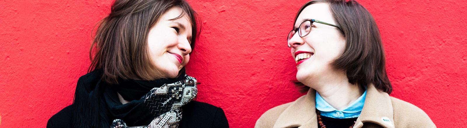 Die Code Girls Julia Hoffmann und Natalie Sontopski