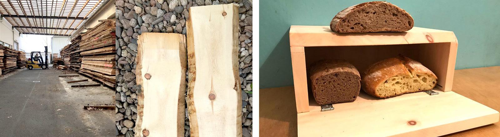 Ein selbst gebauter Brotkasten aus Zirbenholz von Moritz Metz