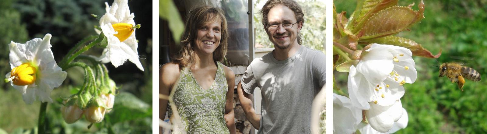 Die Selbstversorger Sarah Möhnke und Daniel Becker.