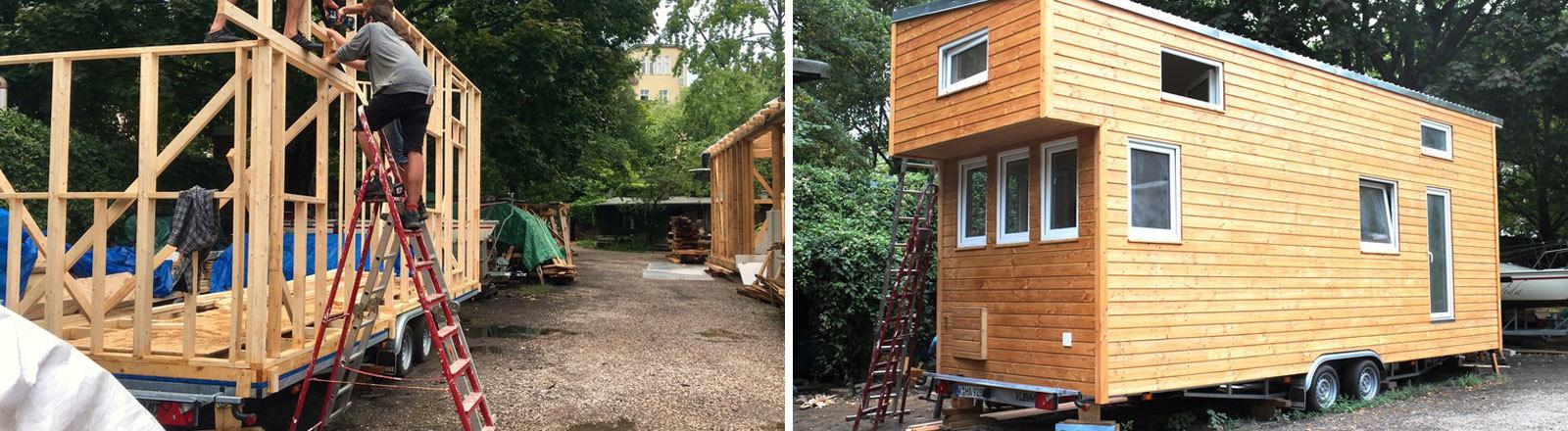 Ein Tiny House wird gebaut