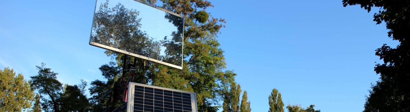 Die Sonnenscheinmaschine: Ein selbstgebauter Heliostat