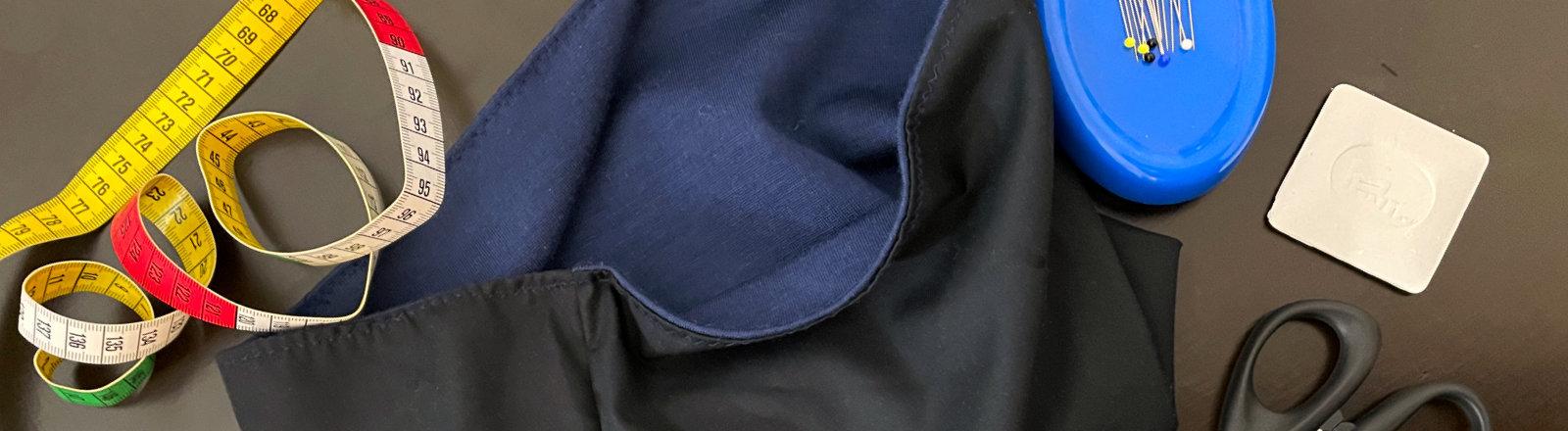 Netzbasteln: Einen Loop-Schal nähen
