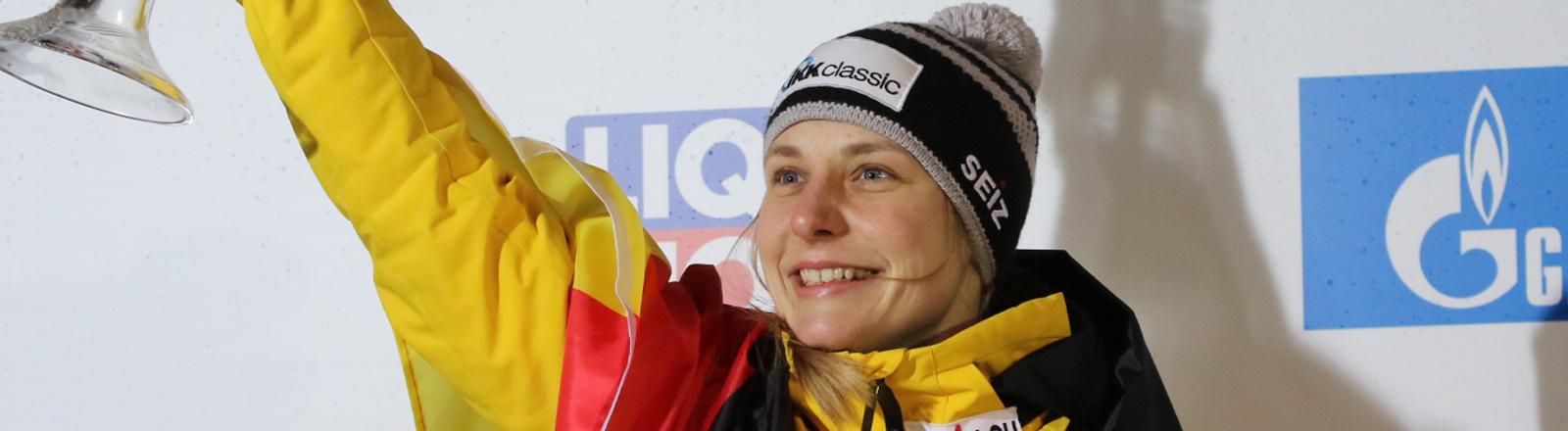 Dreifache Skeleton-Weltmeisterin Tina Hermann