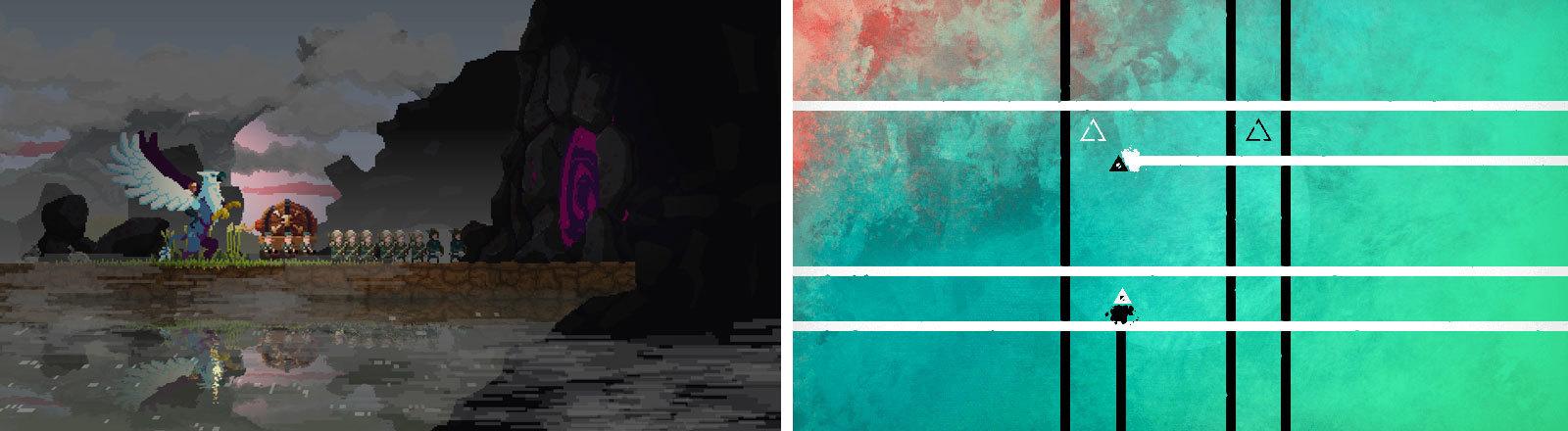 Screenshots Deru und Kingdom Two Crowns