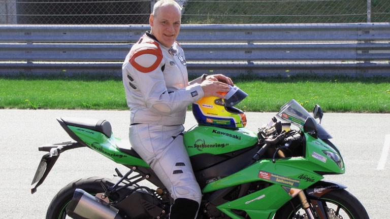 Ralf Mackel auf seinerm Motorrad
