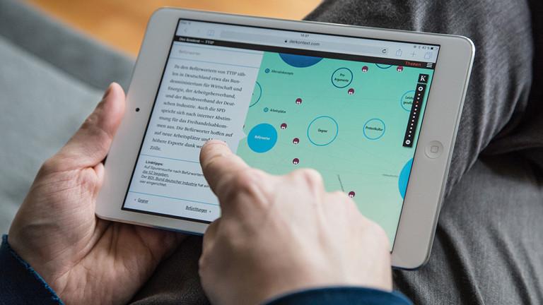 Hinter jedem Kreis auf der Karte verbergen sich Informationen und weiterführende Links.